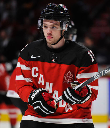 Team Canada forward Max Domi skates during the warmup prior to facing the U.S. during the World Junior Hockey Championship at the Bell Centre in Montreal, Dec. 31, 2015. (MARTIN CHEVALIER/QMI Agency)