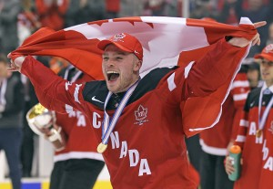 Gold at the World Juniors was an early career highlight. Photo credit: CLAUS ANDERSEN/Getty